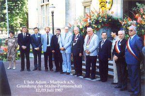 1987-L_Isle Adam-in LA Gründung der Städte-Partnerschaft 1987 aT