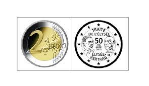50 Elysee Vertrag 2 Euro