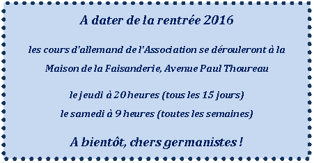 Cours allemand 2016